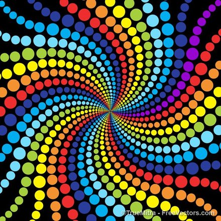 Rainbow Dots Backgrounds