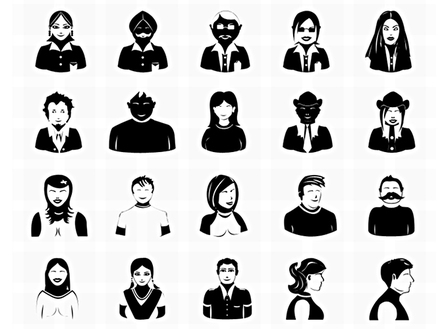 20 free vector Photoshop avatar icons