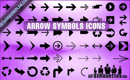 56 Arrow Symbols Icons