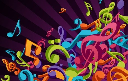 3D Colorful Music Vector Background 3d Abstract Art