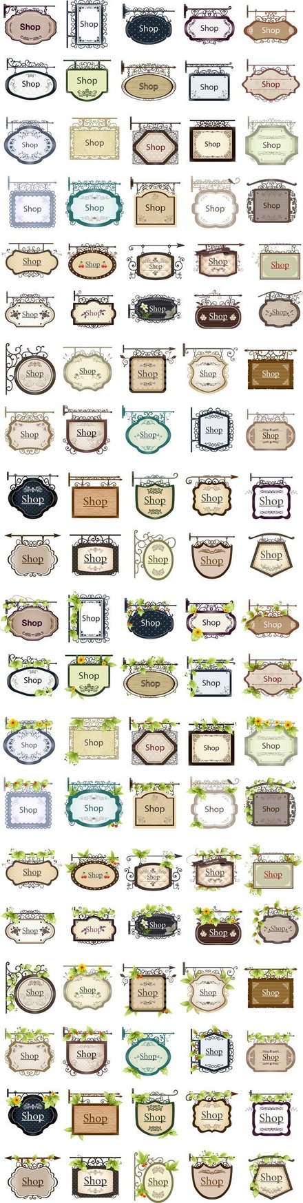 100 Decorative Vector Listed Shop