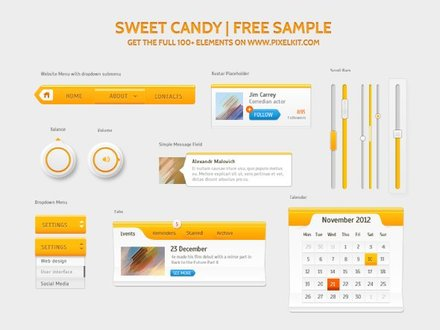 Sweet Candy UI Kit