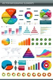 Glossy Colorful Infographic Elements