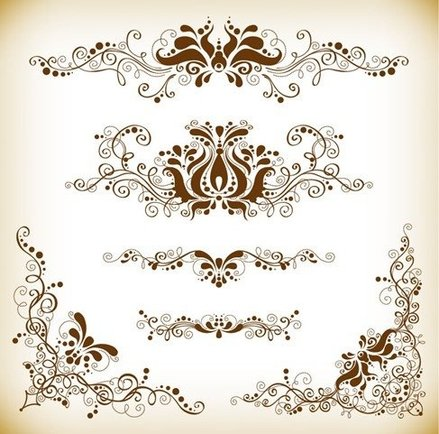 Vintage Design Element Vector Graphis Set