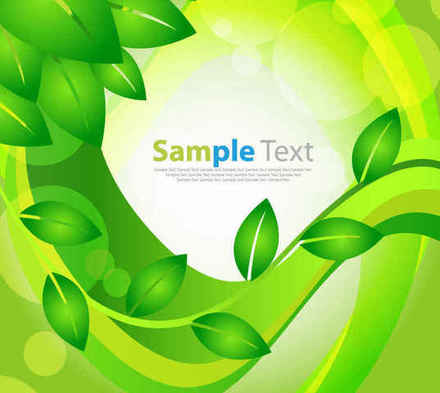 Green Leaves Floral Background