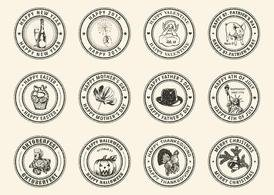 Free Holiday Rubber Stamps