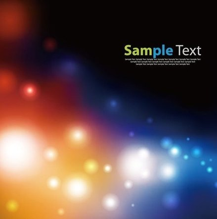 Vector Elegant Abstract Background with Bokeh Lights