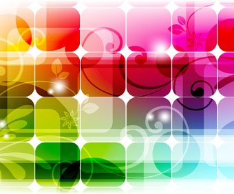 Abstract square with colorful background