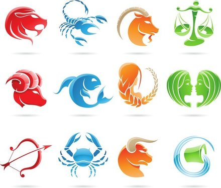 Set Of 12 Zodiac Signs