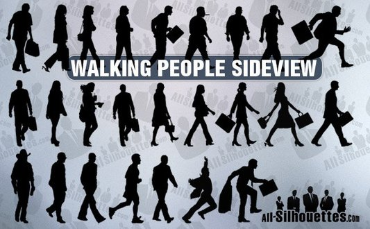 25 Walking people sideview