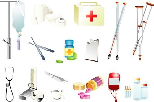 Vector Of Medical Supplies