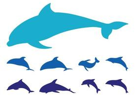 Dolphins Silhouette Set