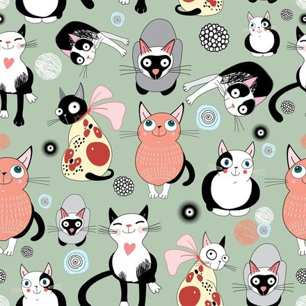 Cartoon Cat Background
