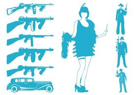 Guns And Gangsters Silhouettes