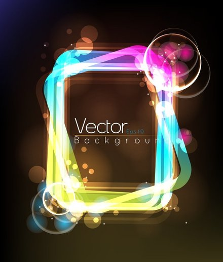 Light Frame Composed Of Vector 3