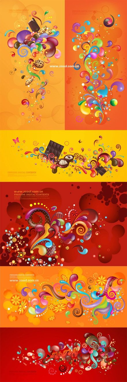 The trend of colorful vector case series - Orange Red (6P)