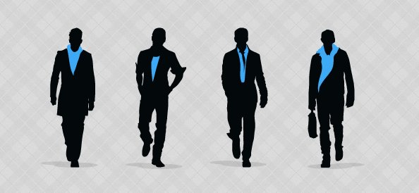 Fashion Men Silhouettes Set 1