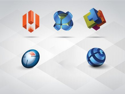 3D Logo Templates Set Vol 1