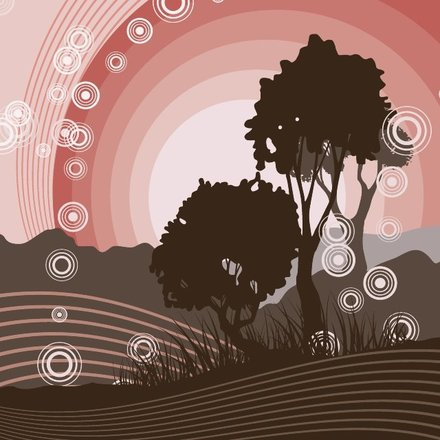 TREE SILHOUETTE ABSTRACT VECTOR.eps