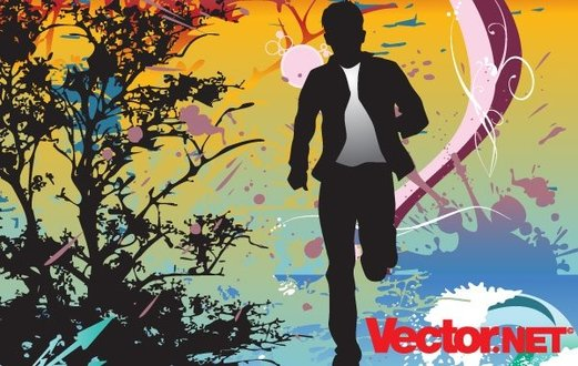 Running Action Man Silhouette Vector Illustration Action Escape Free