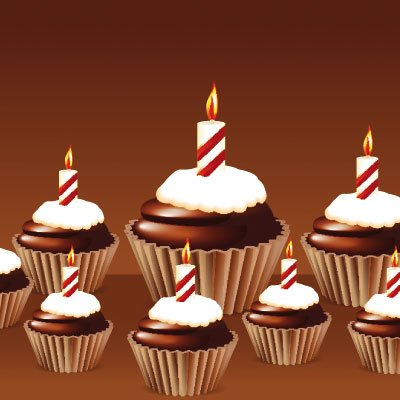 Birthday cupcake Greeting card free