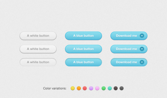 Multicolor Rounded Noisy Buttons