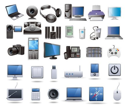Icon vector material digital technology products