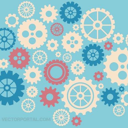 GEAR WHEELS VECTOR GRAPHICS.eps