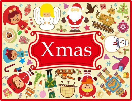 Cute Xmas Elements Vector Set