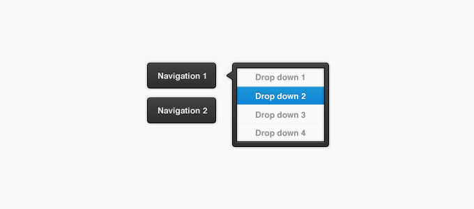 Dark Dropdown and Buttons