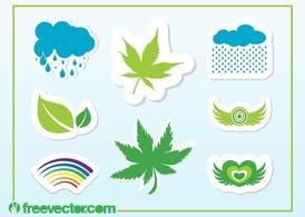 Colorful Nature Stickers