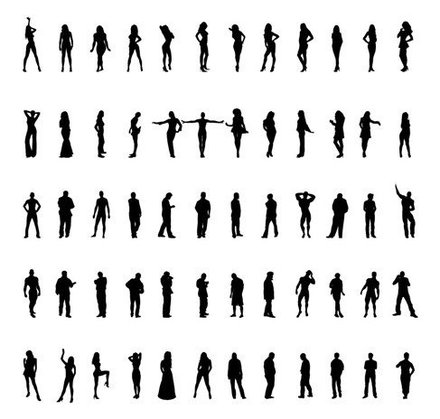 People Silhouettes Vector Set
