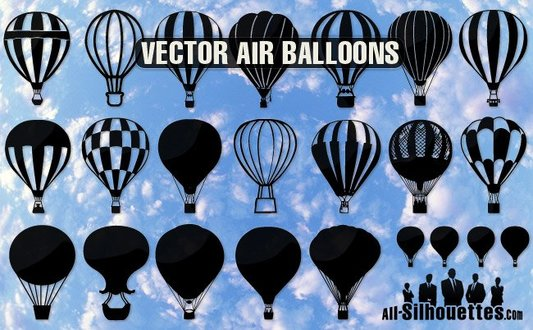 23 Vector air balloons