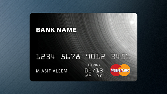 Credit Card Template (PSD)