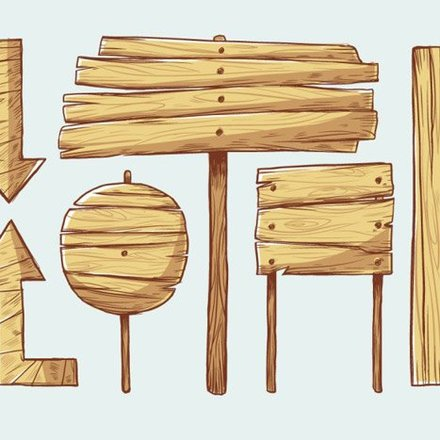 Wooden Signs Vectors