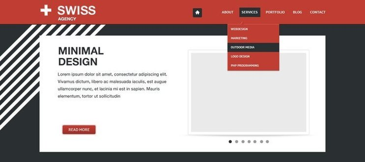 Swiss Agency Free PSD Template