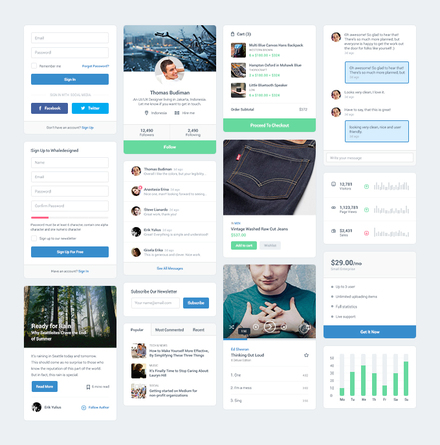 PSD Freebie : MFD UI Kit