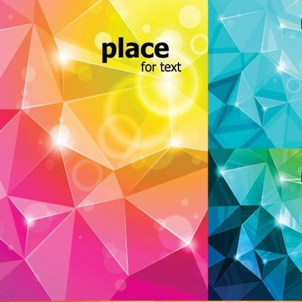 Colourful Rumpled Backgrounds