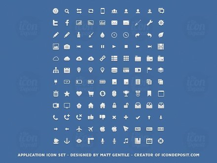 Application Icon Set (PNG, PSD, CSH)