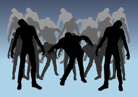 Free Zombie Silhouettes Vector Pack