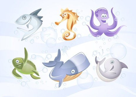 Marine Vector Animals Collection vol1
