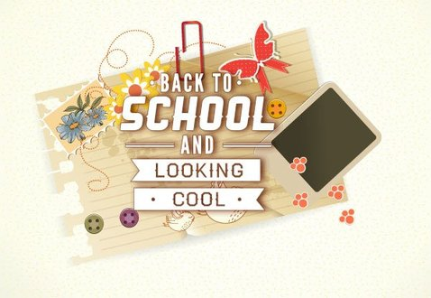 Free Vector illustration of cool Back to school background