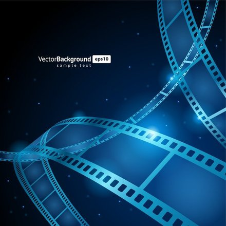 Vector Filmstrip Background