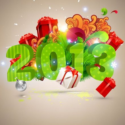 Free vector about happy new year-3