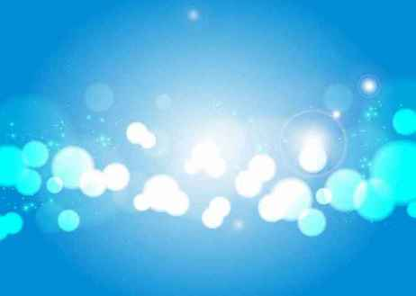 Free Light Blue Bokeh