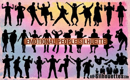 30 Emotional People Silhuette