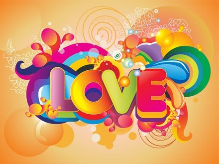 Colorful Love Background