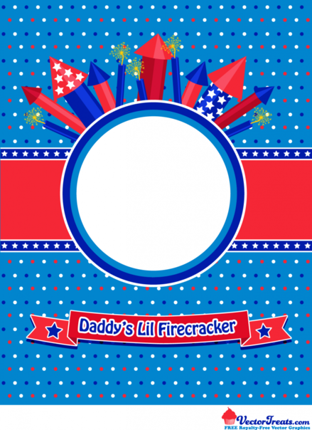 Free 4th of July Vector Graphic to Show Off Daddy's Lil Firecracker