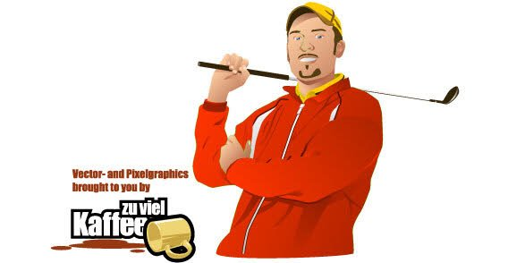 Golf Player Vector Free Download