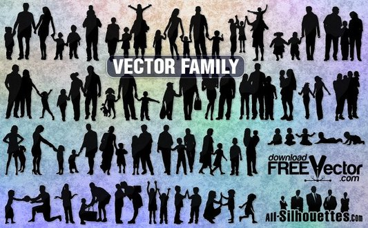 38 Vector family images